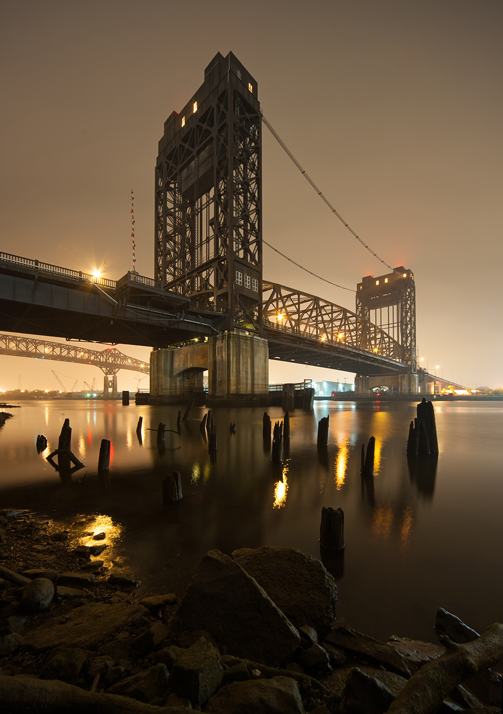 Passaic River Bridge with Pulaski Skyway in background