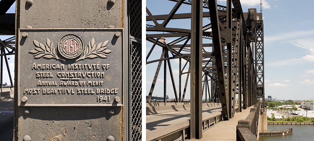 Plaque and bridge walkway