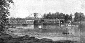 1861 square frame bridge (Source: Harlem River Bridges)