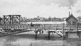 Coles Bridge, opened 1797 (Source: Proceedings, Municipal Engineers of the City of New York)