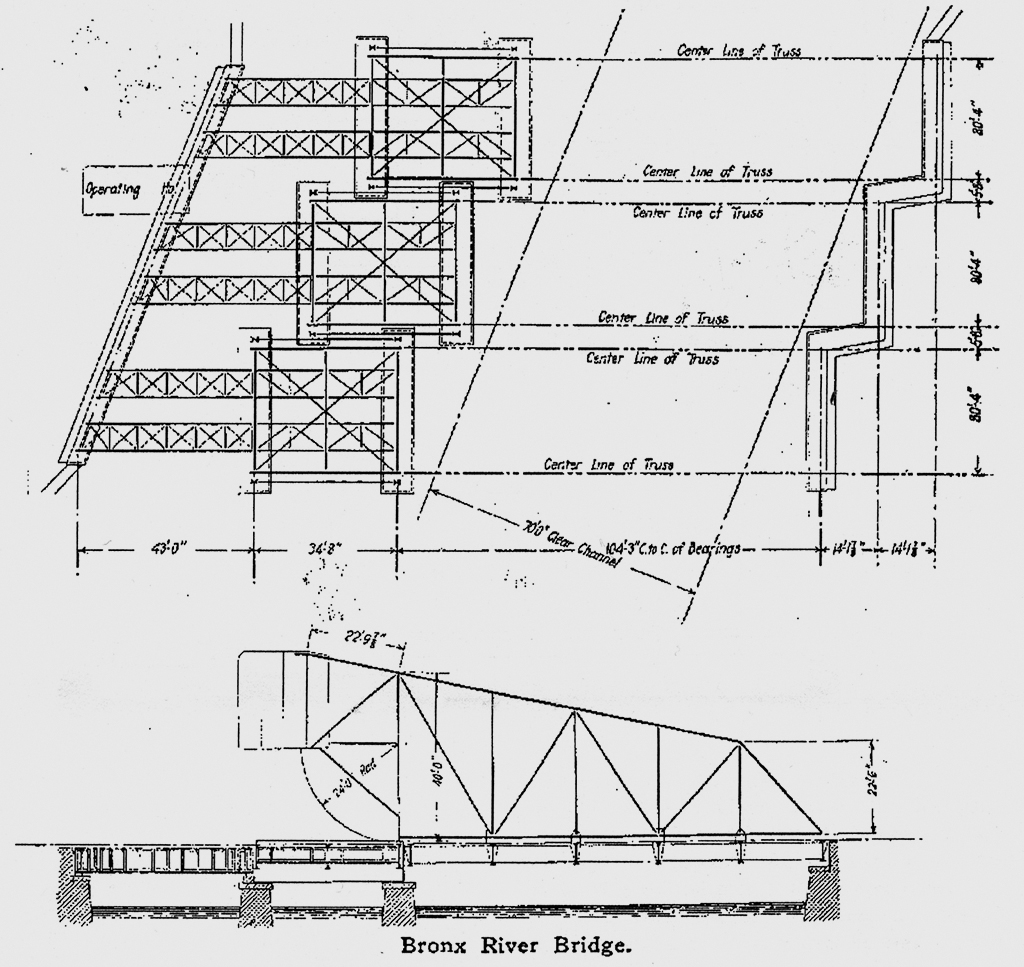 Diagram showing original configuration (Source: The Engineering Record)