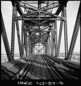 Deck of vertical lift span (Source: Historic American Engineering Record, NJ-37-16)