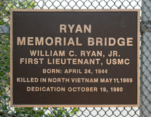 Ryan Memorial Bridge plaque